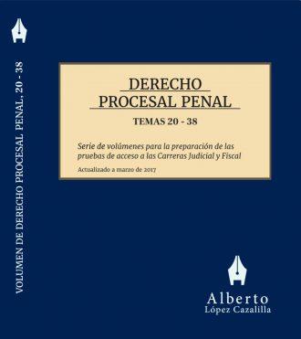 Portada procesal penal temas 20 a 38 oposición jueces y fiscales