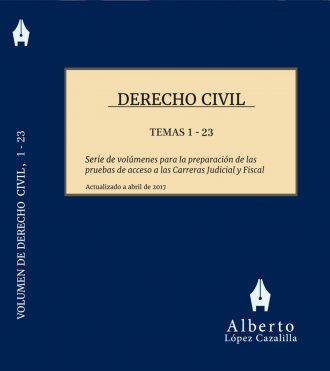 Portada tomo primero de Derecho Civil. Temas 1 a 23
